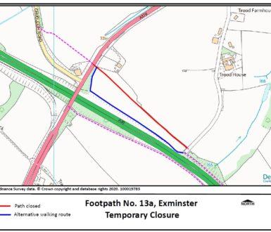 Footpath Closure Map