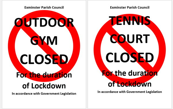 Gym And Tennis Court Closed