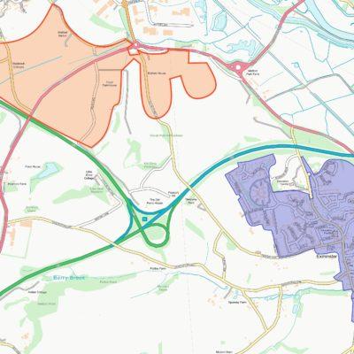 Map of Exminster Parish